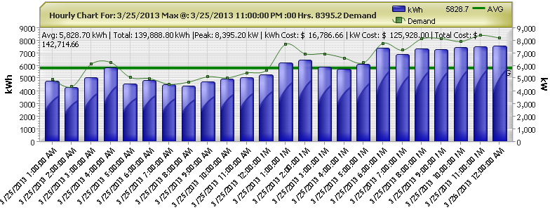 Hourly Usage and Demand Data Graph